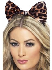 Fever Leopard Print Bow